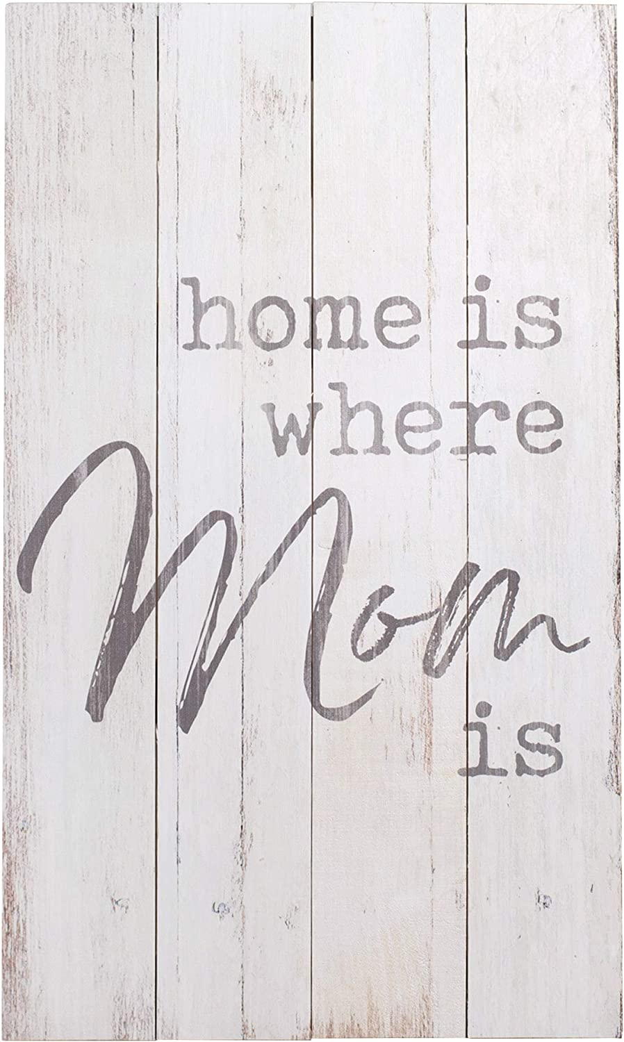 P. Graham Dunn Home is Where Mom is 24 x 14 Pine Wood Decorative Art Plaque