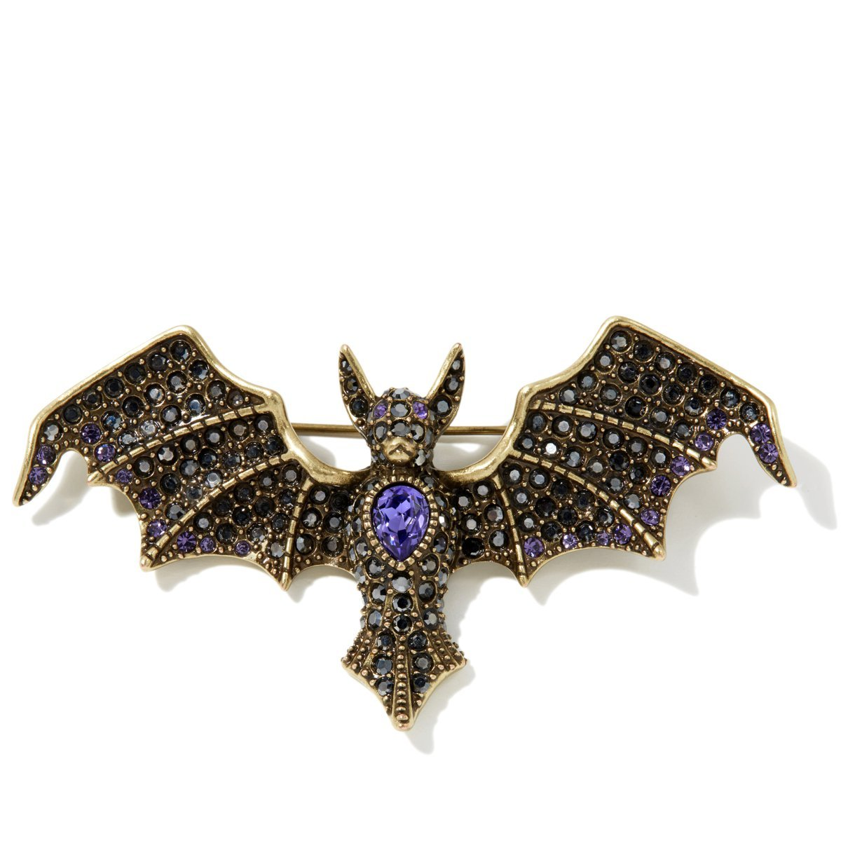 Heidi Daus BATTY FOR YOU PIN EXQUISITE SWAROVSKI CRYSTALS MUST HAVE!