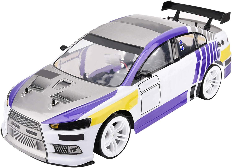 FastUU Coches RC Grandes a Escala 1:10, 4WD 40+ Kmh, Camiones de Juguete de Control Remoto para niños de Alta Velocidad, niños, Adultos, niñas(Batería Doble)