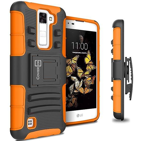 the latest 629c4 ca92e LG K8 Holster Case, LG Escape 3 Holster Case, CoverON [Explorer Series]  Holster Hybrid Armor Belt Clip Hard Phone Cover For LG K8 (K350N) / LG  Escape ...