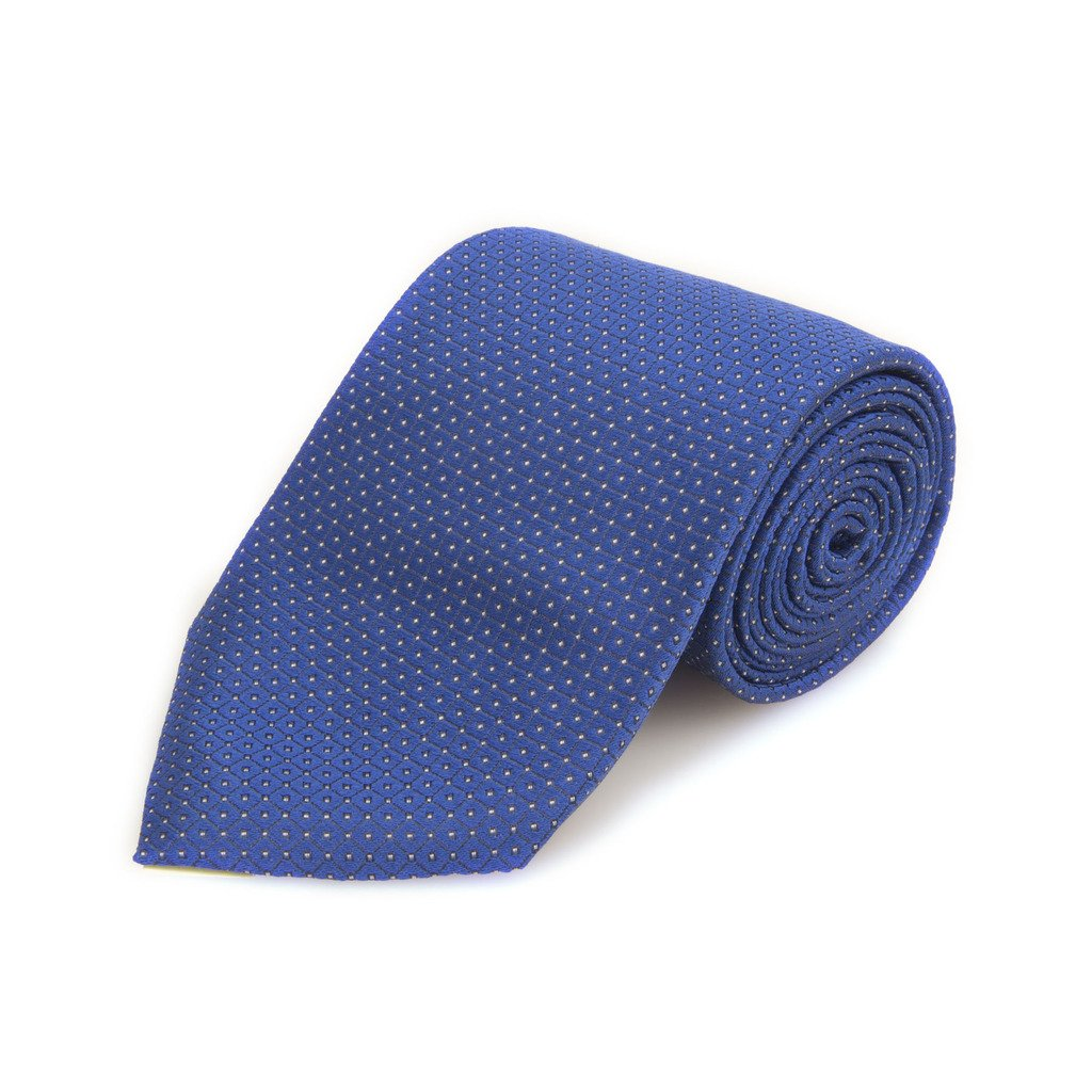 Robert Talbott Best Of Class Blue Neat Woven Silk Tie