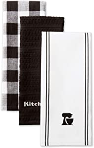KitchenAid Mixer Kitchen Towel Set, Set of 3, Onyx 3 Count