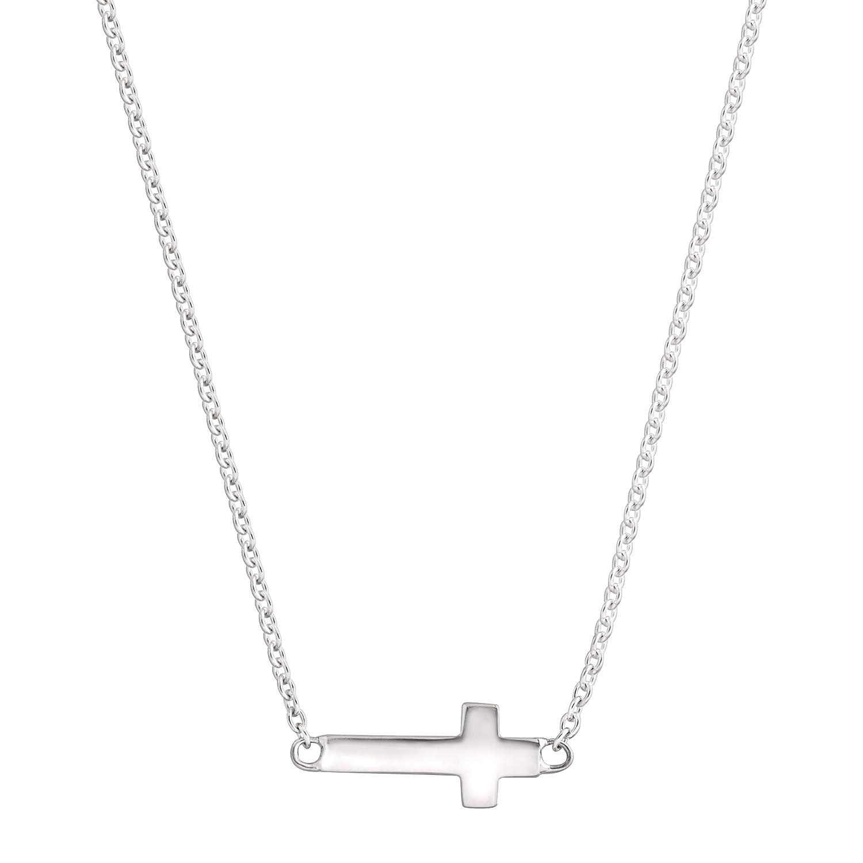Silpada 'Simplex Cross' Horizontal Cross Pendant Necklace in Sterling Silver