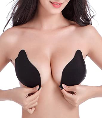 f53e804524e NINGMI Women s Reusable Invisible Strapless Self Adhesive Silicone Push Up  Bra