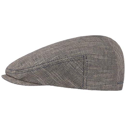Made in The EU mit Schirm Stetson Texas Linen Flatcap Schirmm/ütze Leinencap Sommercap Schieberm/ütze Herren Futter Fr/ühling-Sommer