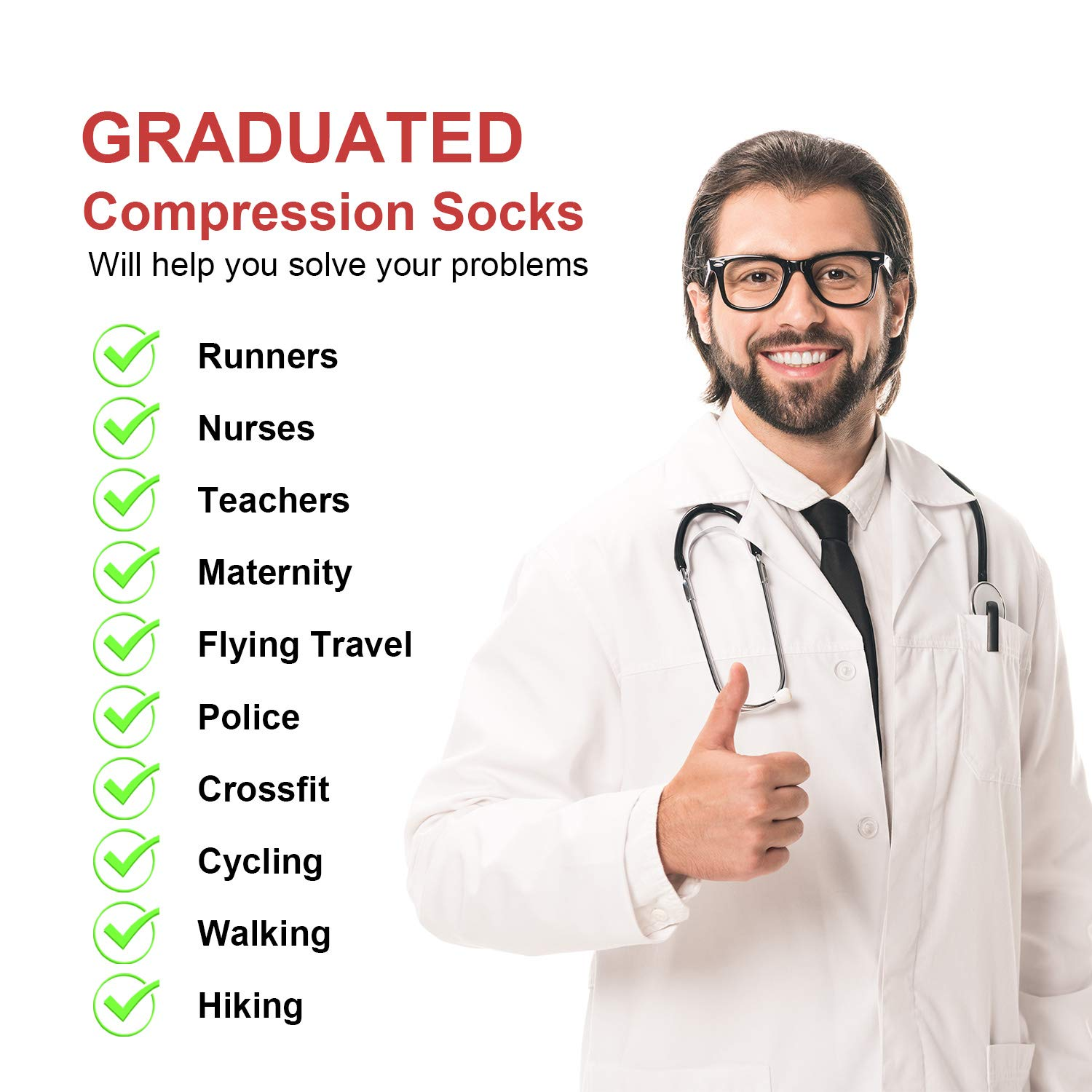 Circulation /& Recovery Boost Stamina Varicose Veins 2 Pairs Compression Socks for Men /& Women Best Graduated Athletic Fit for Running Flight Travel Pregnancy Flying Nurses Medical Shin Splints