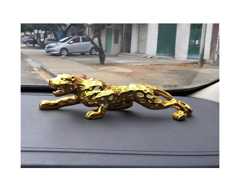 Desk Decorations,The Tiger Leopard Decoration Ornaments 30/×6cm, Gold High-end Money Leopard Ornaments Large Car Decoration Male and Female Car Dashboard Computer Desk