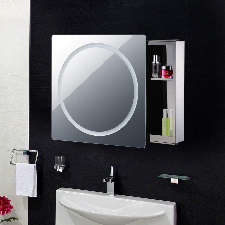 Irror C Miroir de Salle de Bain avec Porte coulissante et