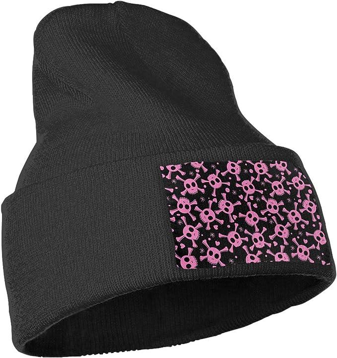 Yubb7E Flowers Warm Knit Winter Solid Beanie Hat Unisex Skull Cap