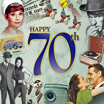 Happy 70th Birthday Card And CD Gift