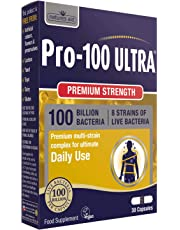 Natures Aid Pro-100 Ultra 100 Billion Live Bacteria, Ultimate Strength, 30 Capsules