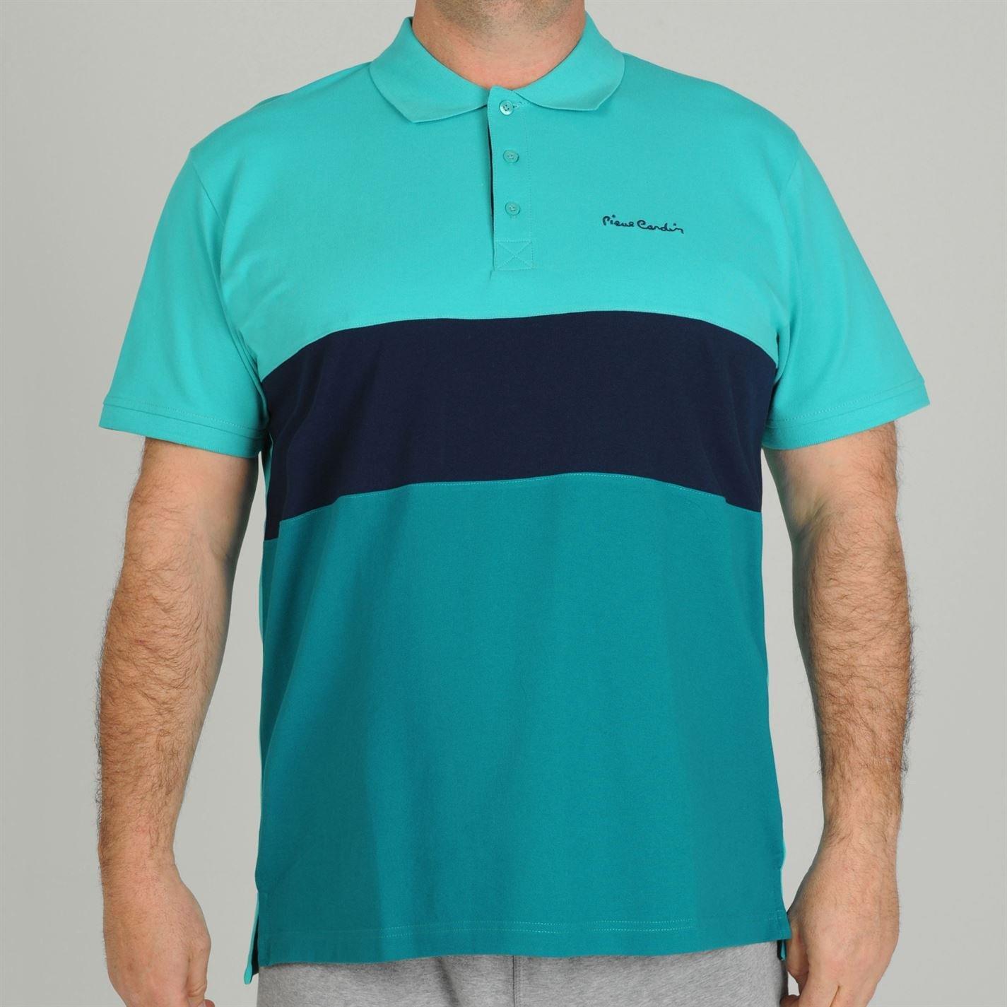 Pierre Cardin Polo camisa para hombre de rayas de color azul ...
