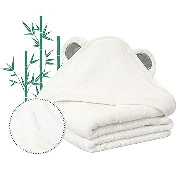 Amazon.com: Toalla de baño con capucha para bebé, súper ...