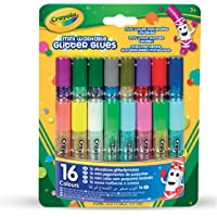 CRAYOLA 69-4200 Mini Washable Glitter Glue; Art Tools; 16 ct.; 16 Sparkly Colors; Great for Arts and Crafts, Great for…