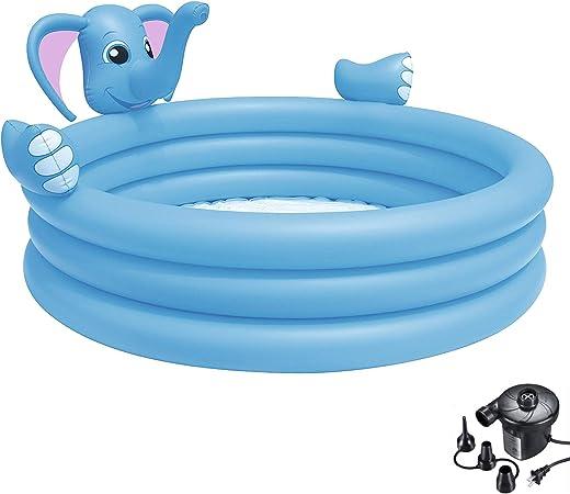 DMGF Piscina Inflable para Niños con Bomba Piscina Elefante En ...