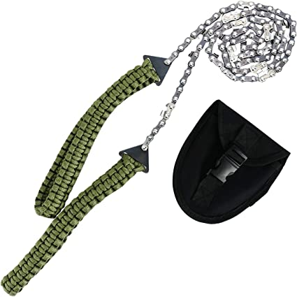 Pocket Chainsaw Survival Gear 36 Inch Long Chain /& Free Fire Starter Kit