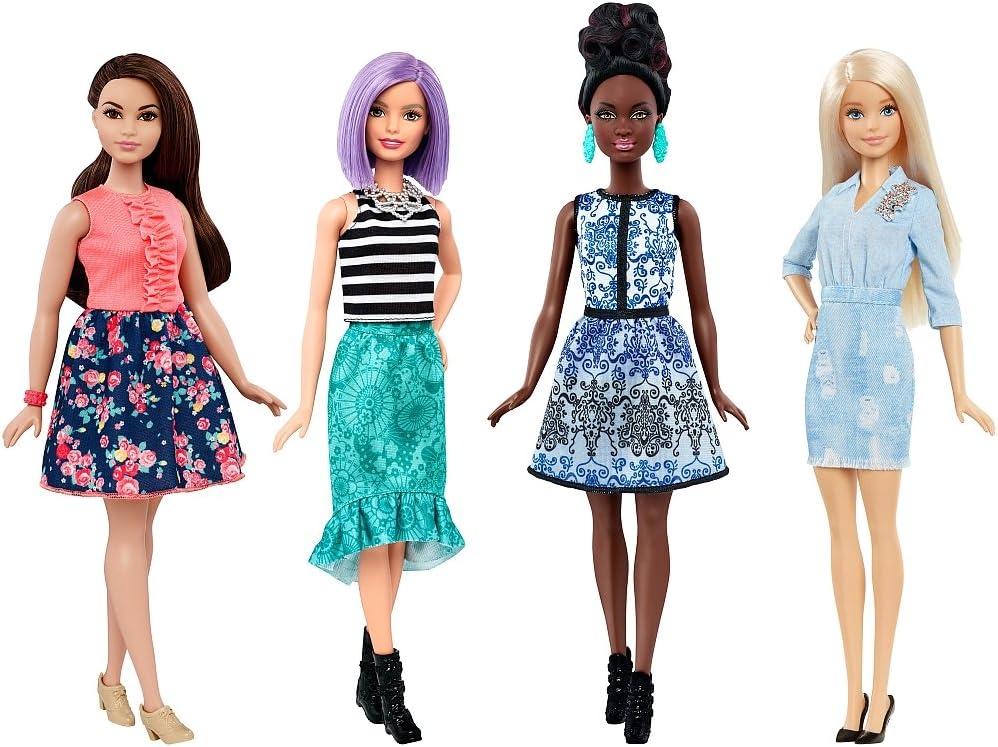 Amazon.es: Barbie Fashionistas Super Set con 4 muñecas FLB34 Mattel: Juguetes y juegos