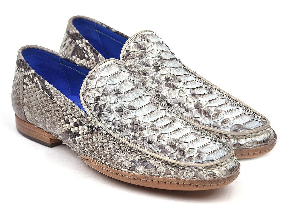 Paul Parkman Natural Genuine Shoes Python Opanka Stitched Moccasins Shoes Genuine (ID#OPK33NAT) B079HMZB2F Moccasin 20b3f1