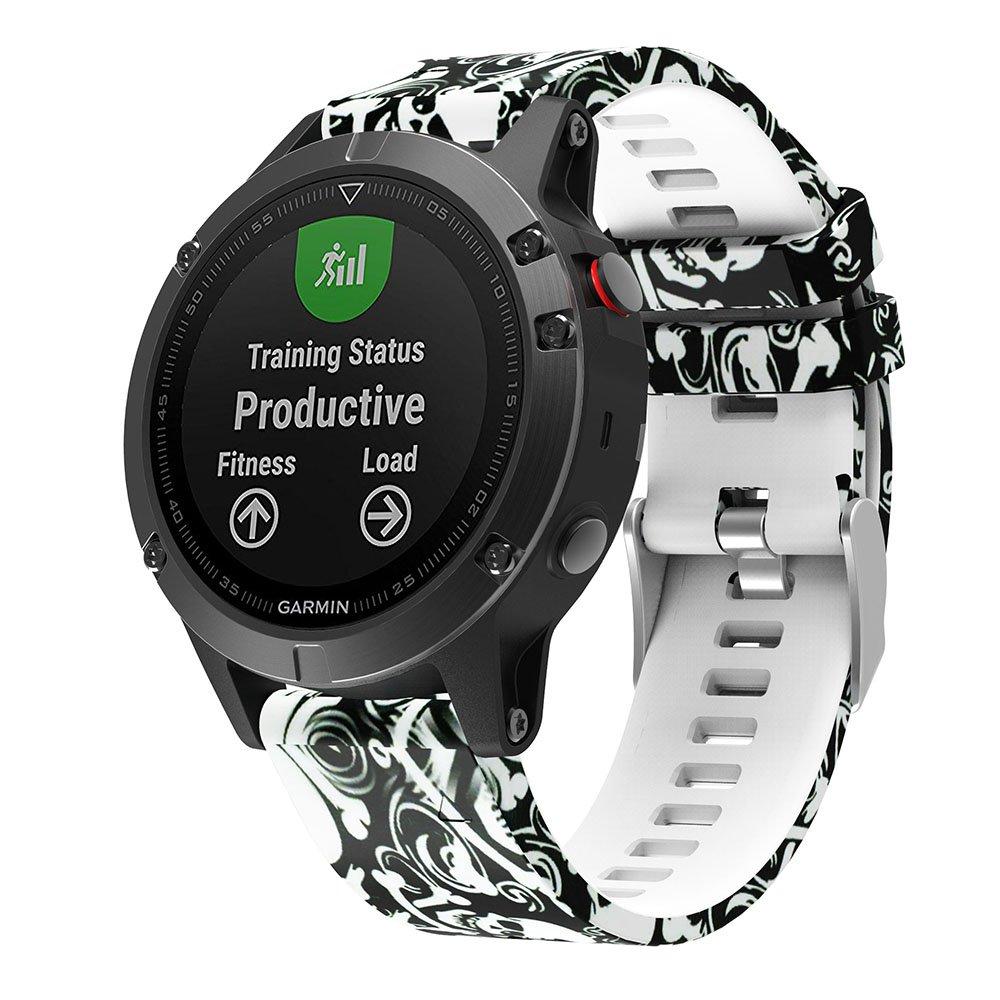 Correa de recambio para el reloj Garmin Fenix 5 para deporte con GPS, iFeeker. Suave correa de silicona para reloj de pulsera, fácil de instalar para el ...