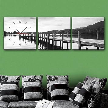 Xiuxiandianju 3PCS See Holz Dekorative Malerei Frame Malerei Uhr  Schlafzimmer Wohnzimmer Kinderzimmer Speise Gemälde , 60