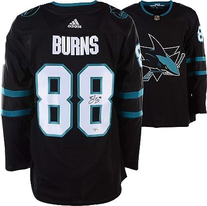 d0811a558 Brent Burns San Jose Sharks Autographed Black Adidas Authentic Jersey - Fanatics  Authentic Certified