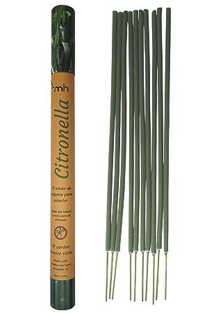 Sticks de Incienso MosquitoHouse con aceite puro de Citronela. 10 unidades de Color Verde y