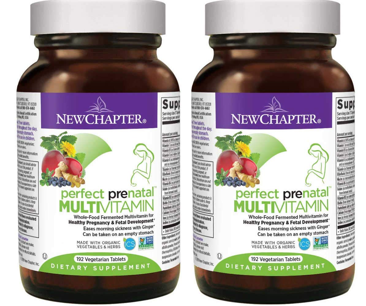 New Chapter Perfect Prenatal Multi Vitamin Made with Organic Vegetables and Herbs for Before and Throughout Pregnancy (192 Vegetarian Tablets) Pack of 2