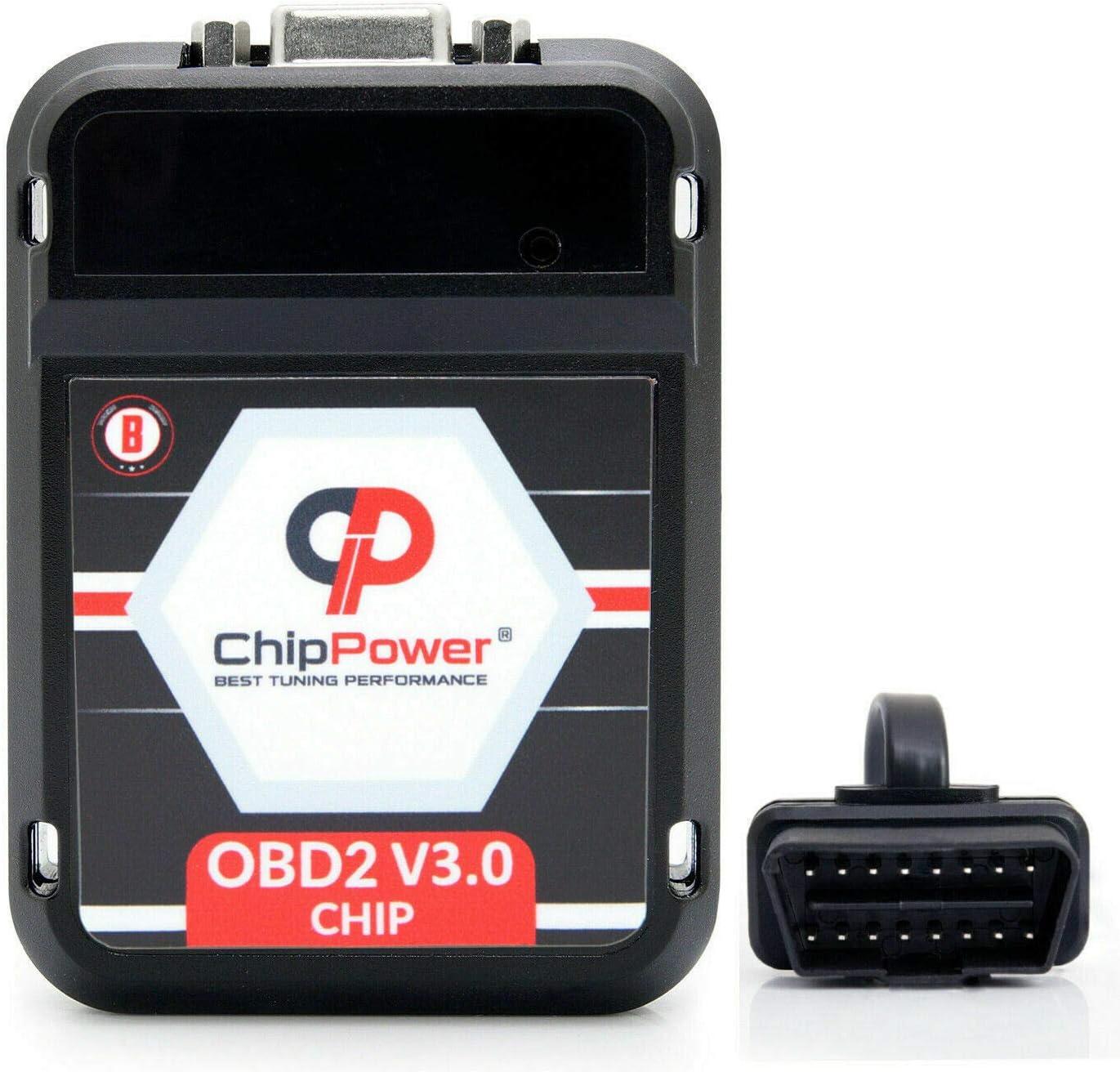 8P Chiptuning ChipPower OBD2 v3 f/ür A3 2.0 FSI 150 PS 2003-2008 Tuning Benzin