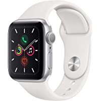 $379 » Apple Watch Series 5 (GPS, 40mm) - Silver Aluminum Case with White Sport Band