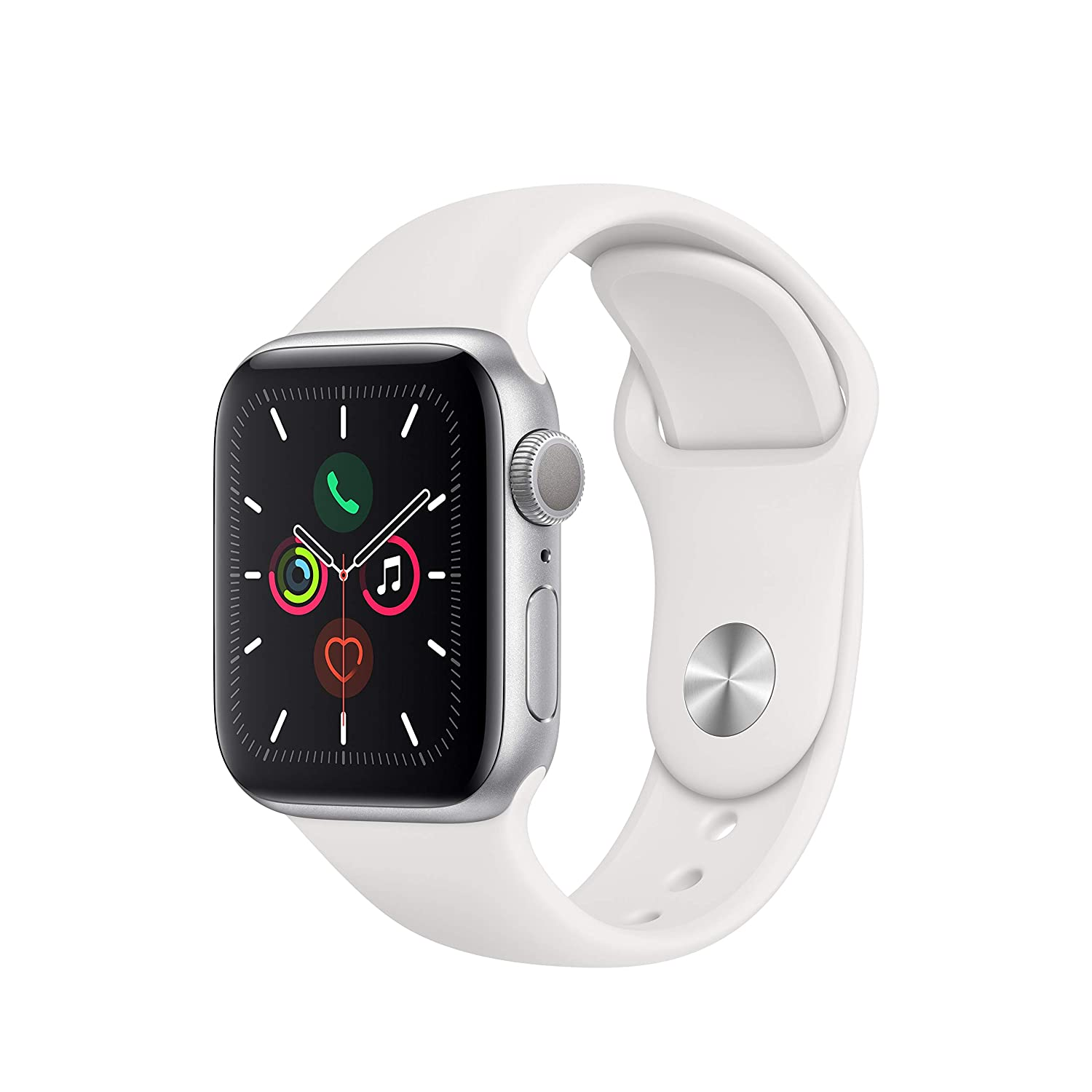 Apple Watch Series 5 (GPS, 40mm) - Silver Aluminium Case with ...