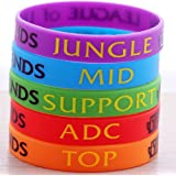 League of Legends Top Jungle Adc Mid Support Silicone Bracelet 5pcs/set
