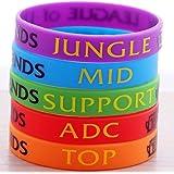 League of Legends Top Jungle Adc Mid Support Silicone Bracelet 5pcs/set