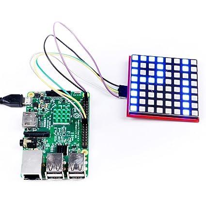 Amazon com: GeeekPi 8x8 Full-Color RGB LED Matrix Module with