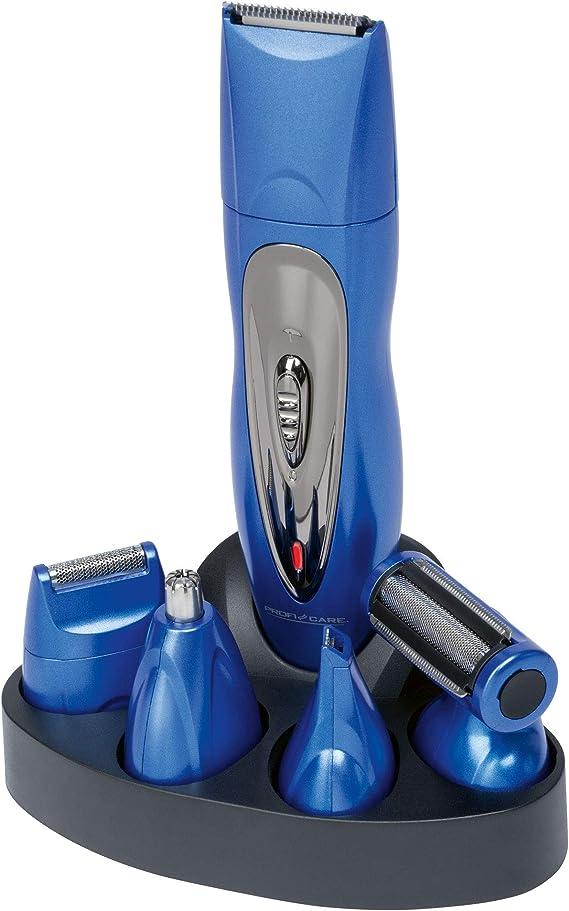 Proficare BHT 3015 - Set de Cortapelo, afeitadora corporal, recortador de precisión, cortador oido y nariz, batería recargable, azul: Amazon.es: Salud y cuidado personal