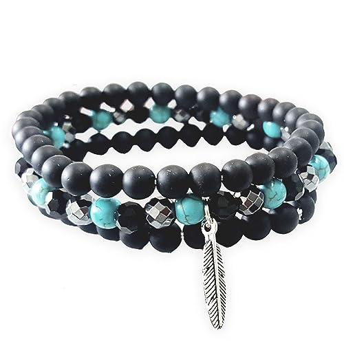 Silver bracelet boy/'s bracelet Indian silver bracelet black bracelet men/'s bracelet women bracelet hematite bracelet unisex bracelet