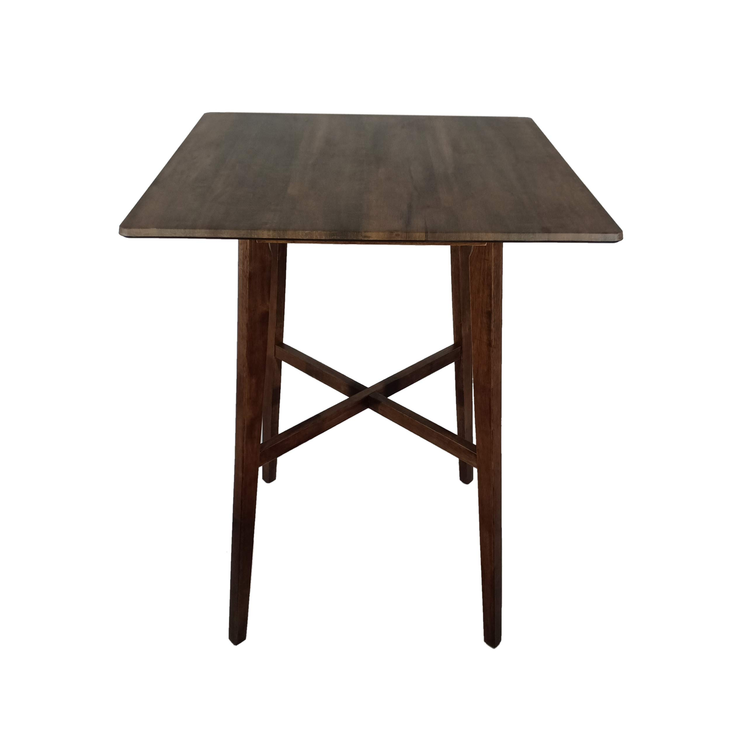 Christopher Knight Home Daisy Modern Bar Rubberwood Legs and Laminate Table Top, Walnut Finish by Christopher Knight Home