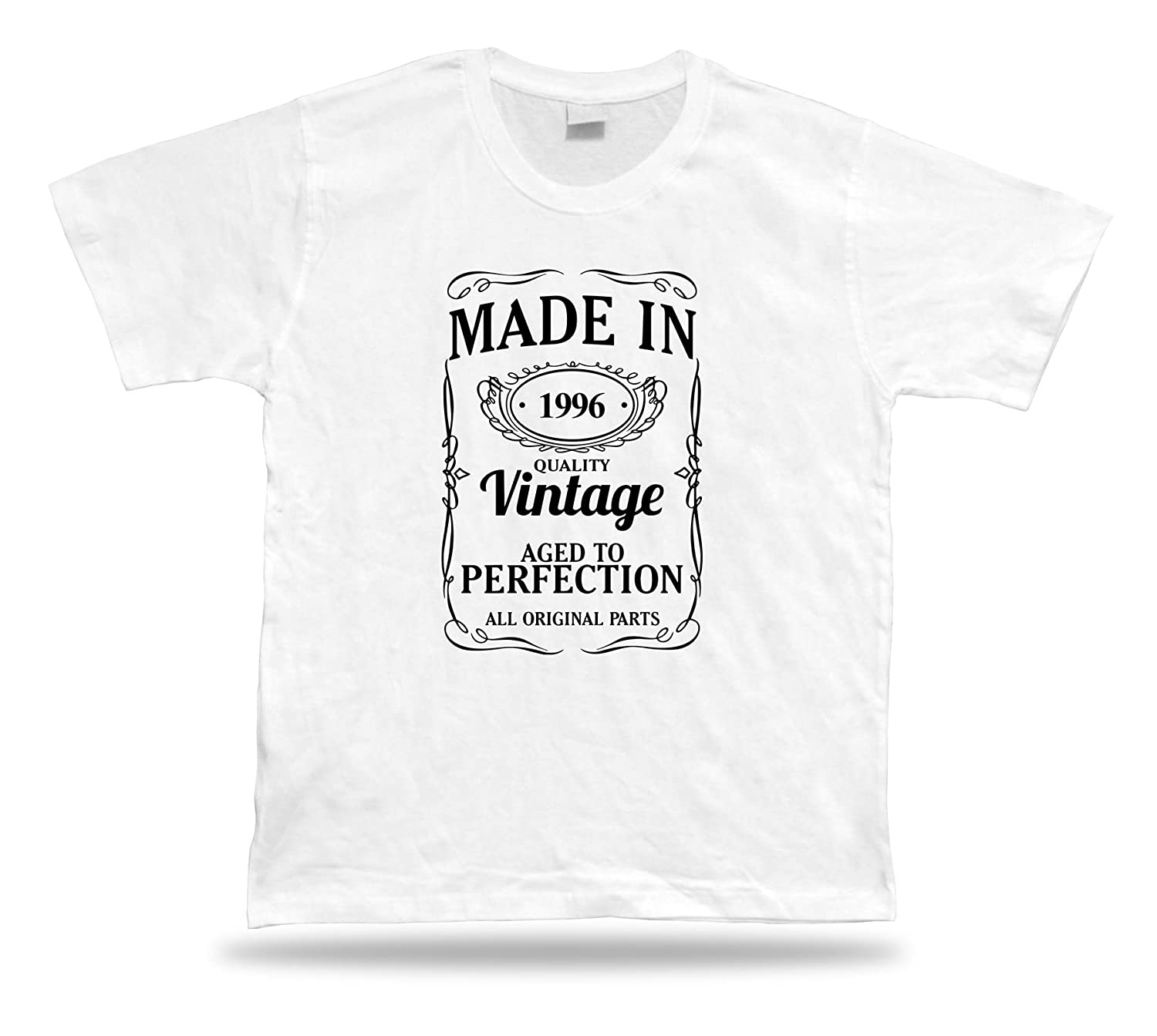Printed T shirt tee Made in 1996 happy birthday present gift idea unisex