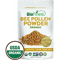 BioFinest Bee Pollen Powder - 100% Pure Freeze-Dried Antioxidant Superfood - Usda Certified Organic Kosher Vegan Raw Non…