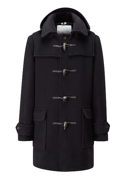 Amazon.com: Mens London Long Fit Duffle Coat -- Navy: Clothing