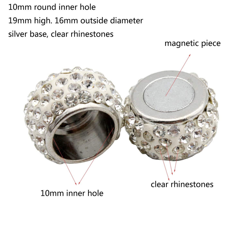 fuerte im/án para hacer pulseras Paquete de 10 cierres magn/éticos y cierre de 10 mm con agujero redondo