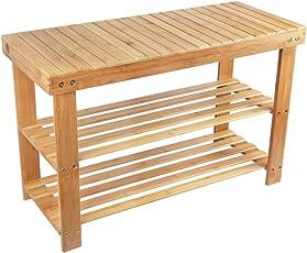 Charmant Shoe Rack Storage Bench Bamboo Seat Organizing Shelf Entryway Hallway  Organizer Furniture By BAMBUROBA