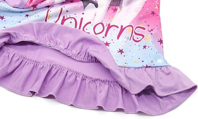 Jurebecia Pyjama m/ädchen Kinder M/ädchen Einhorn Nachthemden Regenbogen bedrucktes Nachthemd Kurzarmpyjama Nachthemd Kleid Nachtw/äsche Nachthemd