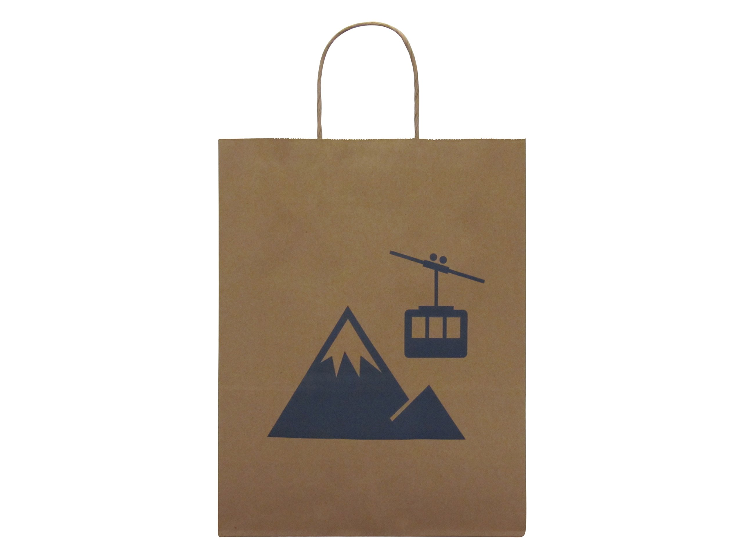 Incredible Packaging - 8'' x 5'' x 10'' Brown CUSTOM Kraft Paper Bags with Handles for Shopping, Retail and Merchandise. Strong and Reusable. (White, 4000) by Incredible Packaging (Image #4)