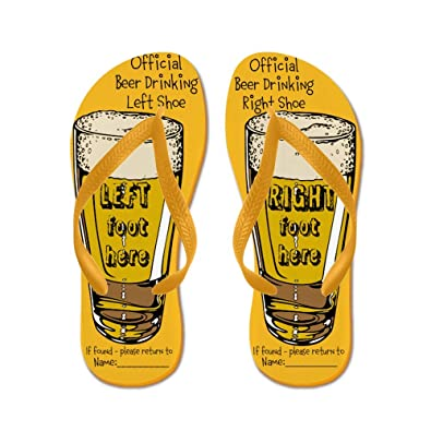 35b35092fcdbf6 CafePress - Official Beer Drinking - Flip Flops