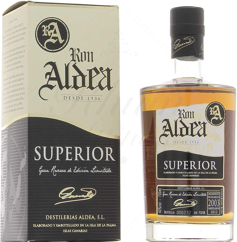 Ron Aldea superior de 10 años Rum (1 x 0,7 l): Amazon.es ...