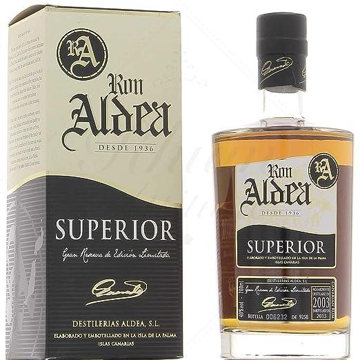 Ron Aldea superior de 10 años Rum (1 x 0,7 ...