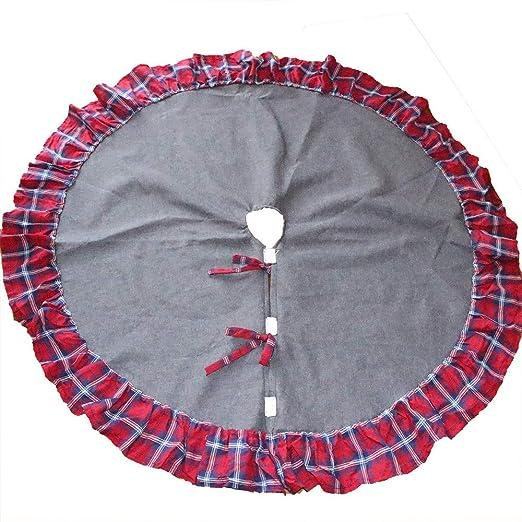 Sansee Falda de árbol de Navidad de 48 Pulgadas de diámetro ...