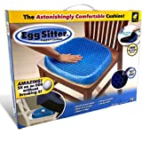 Bulbhead Egg Sitter Seat Cushion With Non-Slip Cover Breathable Honeycomb Design Absorbs Pressure Points, Blue/Black