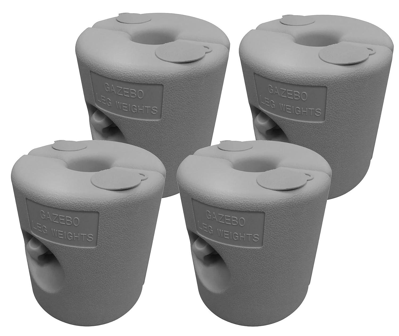 Spetebo 4X GAZEBO supporto grigio–Fusibile riempibile–Peso per feste stuetzen Trampolino supporto per personal communication