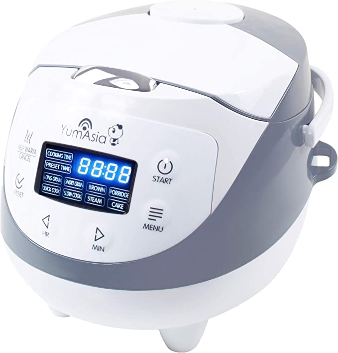 Yum Asia Panda Mini Rice Cooker with Ceramic Bowl and Advanced Micom Fuzzy Logic (YUM-EN06) 4 Rice Cooking Functions 4 Multi-cooker Functions Motouch LED Display (0.6 Litre) 220 - 240V UK / Europe Power: Amazon.de: Küche & Haushalt